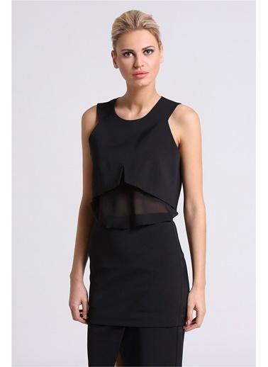 Önü Yırtmaç Detaylı Abiye Bluz-Love'n Fashion Paris